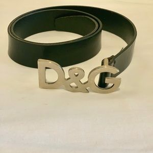 Authentic D&G black belt with Silver buckle